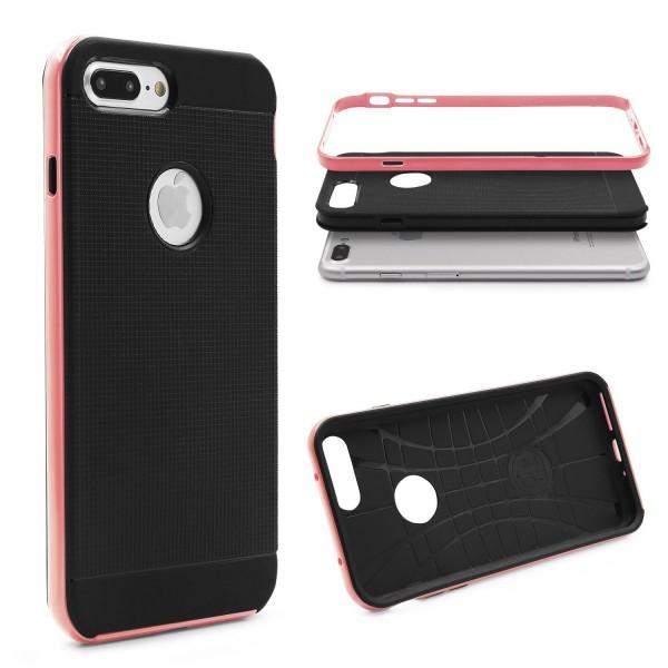 Apple iPhone 7 Plus Schutz Hülle Carbon Style Karbon Optik TPU Case Cover Etui