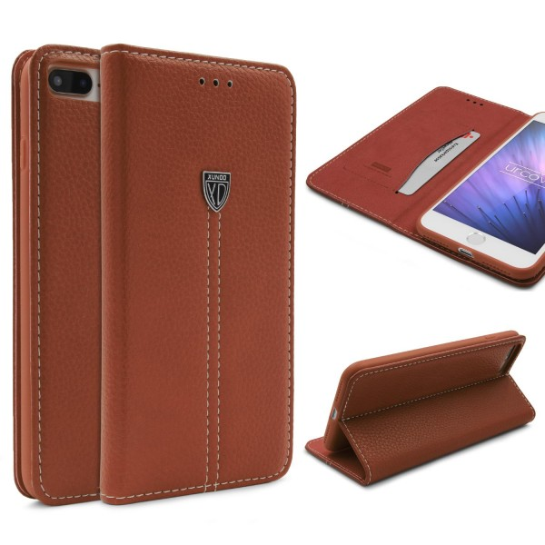 Apple iPhone 7 Plus Schutz Hülle Wallet Case Flip Cover Kartenfach Schale Etui