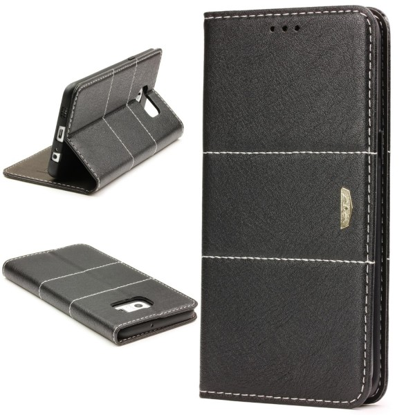 Urcover® Samsung Galaxy S6 Edge Plus Wallet Schutz Hülle Stand Cover Kartenfach