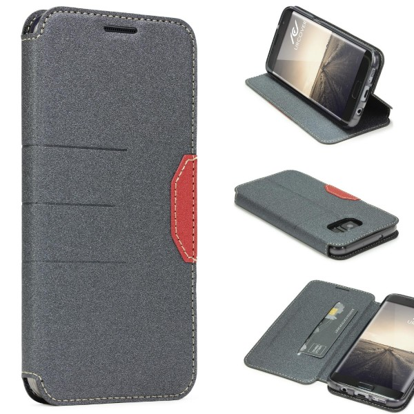 Samsung Galaxy S7 Edge Handy Schutz Hülle Standfunktion Kartenfach Case Cover
