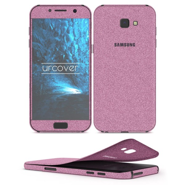 Samsung Galaxy A5 (2017) Glitzer Folie Aufkleben Regenbogen Farbig Diamond Bling