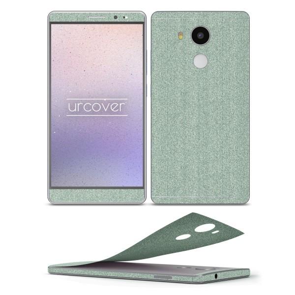 Huawei Mate 8 Glitzer Folie Aufkleben Regenbogen Farbig Diamond Bling Design