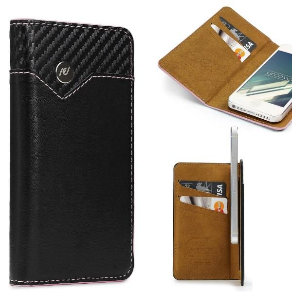 Urcover® Apple iPhone 6 / 6s Schutzhülle Kartenfach Wallet Flip Case Cover