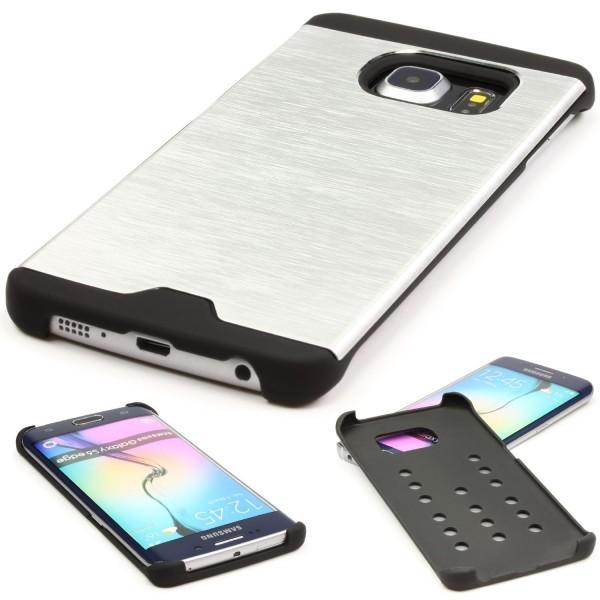 Urcover® Samsung Galaxy S6 Edge Schutzhülle Back Case Alu Cover Schale Bumper
