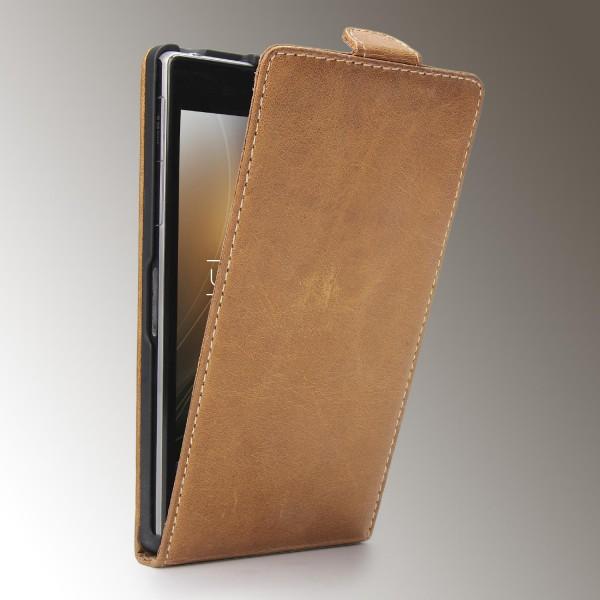 Akira Sony Xperia Z1 Handmade Echtleder Klapp Schutzhülle Flip Case Wallet Cover