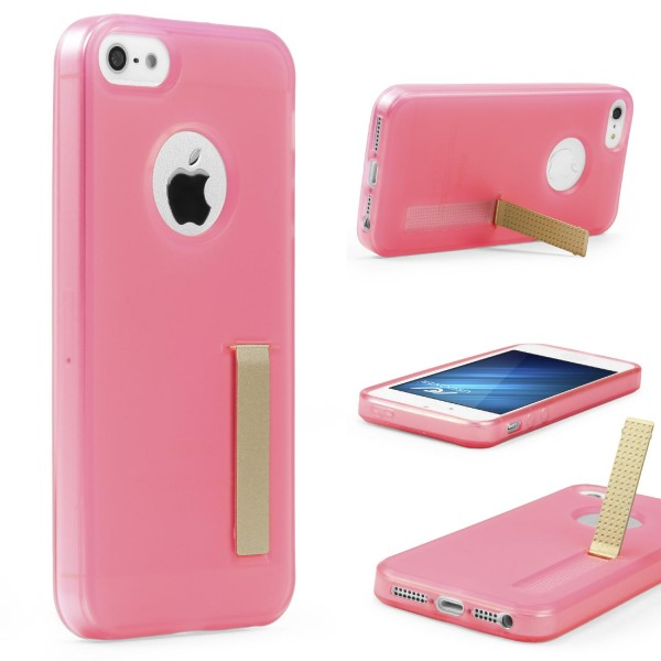 Urcover® Apple iPhone 5 / 5s / SE Schutz Hülle mit Standfunktion Soft Case Cover