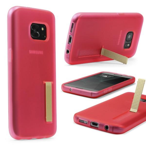 Urcover® Samsung Galaxy S7 Schutz Hülle mit Standfunktion Soft Case Cover