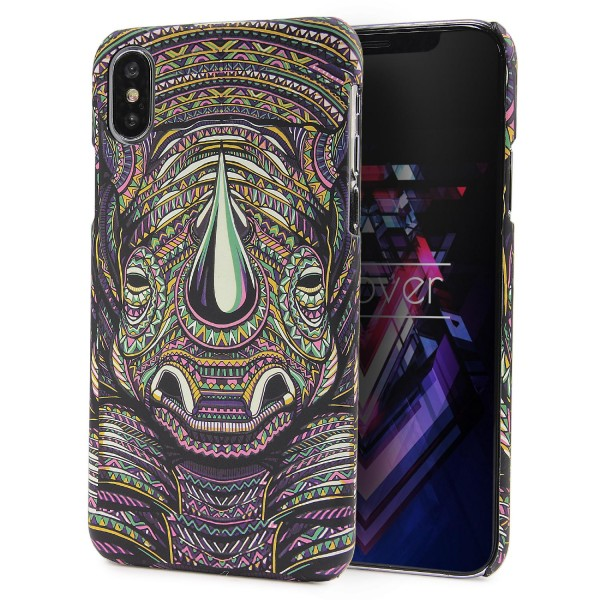 Urcover® Apple iPhone X Schutz Hülle Tier Muster Hard Back Case Cover Tasche