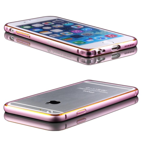 Urcover® Apple iPhone 6 / 6s Alu Bumper Schutz Rahmen Case Cover Klickverschluss