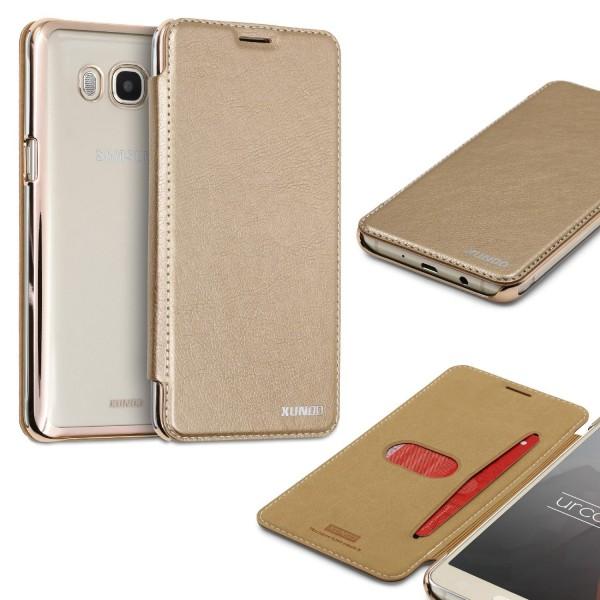 Samsung Galaxy J3 (2015) Schutzhülle Wallet Klapp Cover Flip Case Tasche Etui
