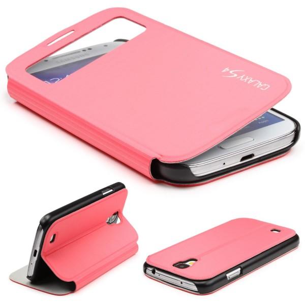Urcover® Samsung Galaxy S4 Mini Kunststoff Schutz Hülle Case Cover Wallet Tasche