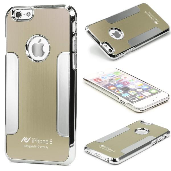 Urcover® Apple iPhone 6 Plus / 6s Plus Schutz Hülle Aluminium Case Cover Chrom