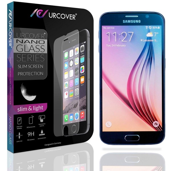 Samsung Galaxy S6 Echt Glas Panzer Display Schutz Folie Klar Ultra Slim Clear