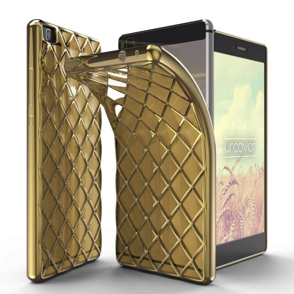 Urcover® Huawei P8 Schutz Hülle Quilted Diamond Design Case Cover Tasche Schale