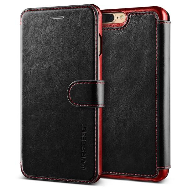 Apple iPhone 7 Plus Premium Schutzhülle Magnet Verschluss Kartenfach Case Cover