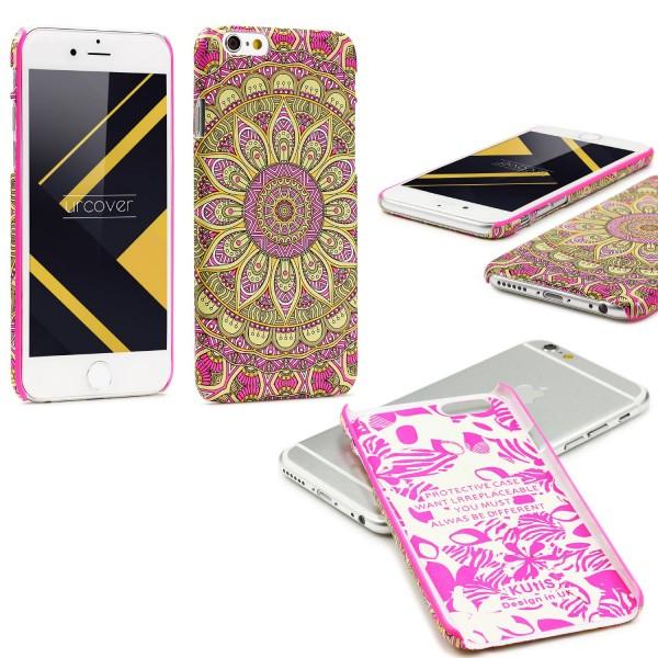 Urcover® Apple iPhone 6 / 6s Mandala Schutz Hülle Back Case Cover Schale Etui
