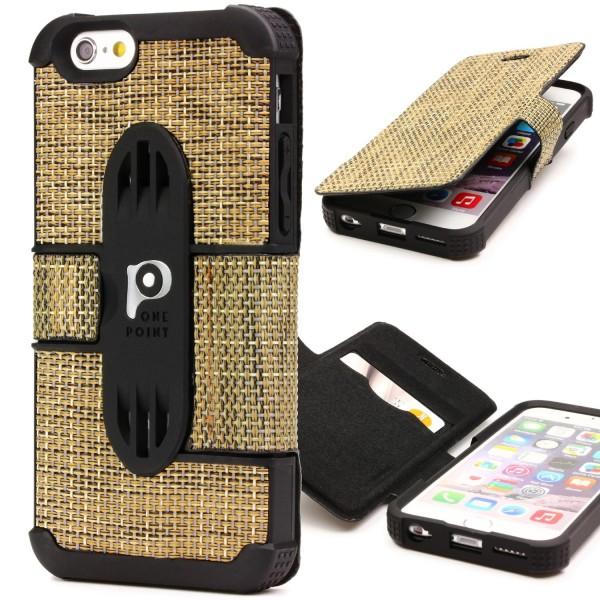 Urcover® Handy Schutz Klapp Hülle für Apple iPhone 6 / 6s Flip Case Cover Wallet Tasche