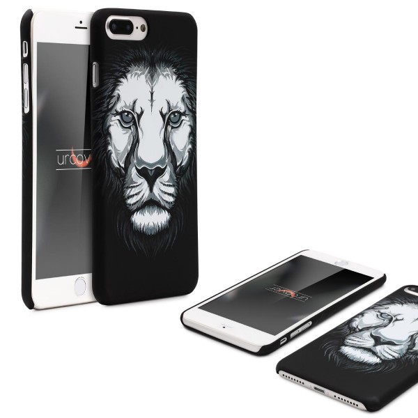 Urcover® Apple iPhone 7 Plus Handy Schutz Hülle Tier Muster Cover Schutz Tasche