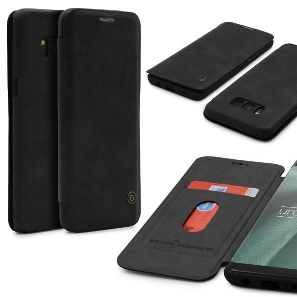 Urcover® Samsung Galaxy S8 Schutz Klapp Hülle Kartenfach Wallet Case Flip Cover