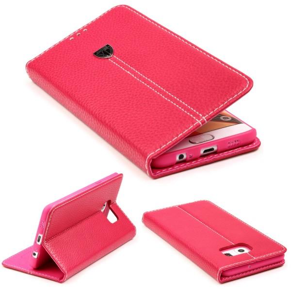 Samsung Galaxy S6 Edge Plus Schutz Hülle Wallet Case Flip Cover Kartenfach Etui