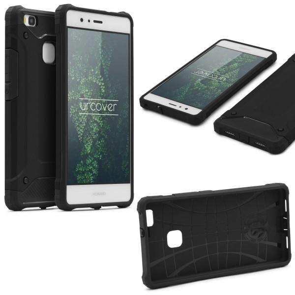 Huawei P9 Lite OUTDOOR Schutz Hülle TOP Cover Back Case Carbon Optik Etui Schale
