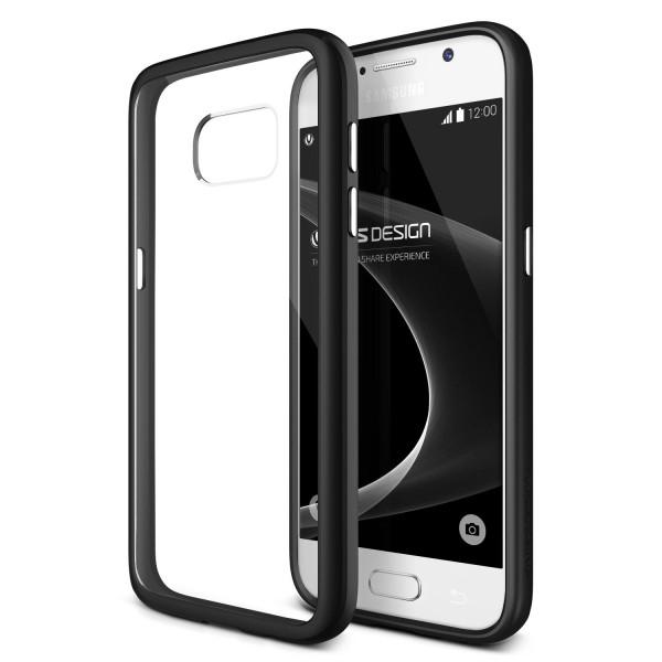 VRS Design® Samsung Galaxy S7 PC TPU Cover Case Hülle Transparent Bumper Etui