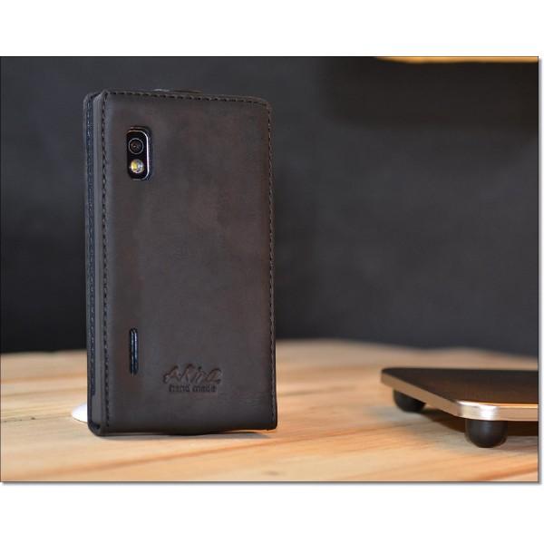 Akira LG L5 Handmade Echtleder Schutzhülle Flip Cover Ledertasche Case Wallet
