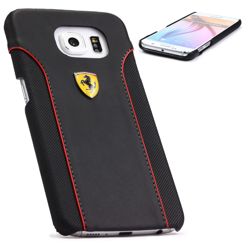 Ferrari Samsung Galaxy S6 Schutz Hülle Backcover Backcase Tasche Case Cover Flip Schwarz Backcase Galaxy S6 Smartphone Samsung