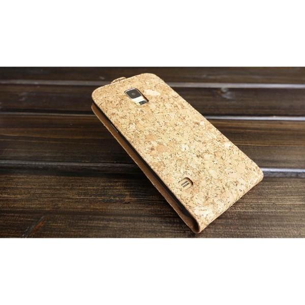Urcover® Samsung Galaxy S5 Kork Schutz Hülle Flip Wallet Case Cover Schale Etui