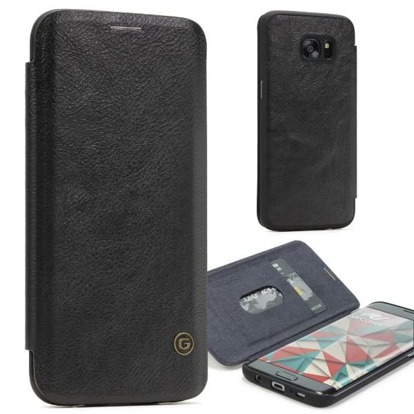 Urcover® Samsung Galaxy S7 Edge Schutz Klapp Hülle Kartenfach Wallet Case Flip