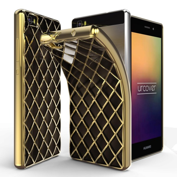 Urcover® Huawei P8 Lite Schutz Hülle Quilted Diamond Design Case Cover Tasche