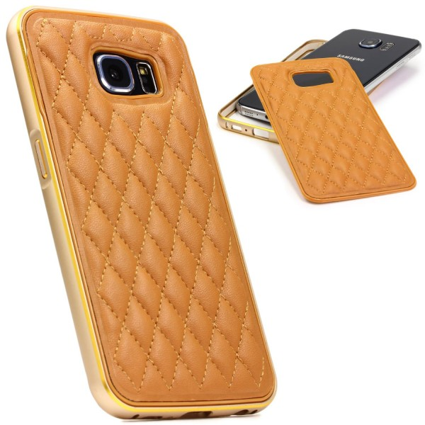 Urcover® Handy Schutz Hülle Samsung Galaxy S6 Case Quilted Diamand Cover Etui